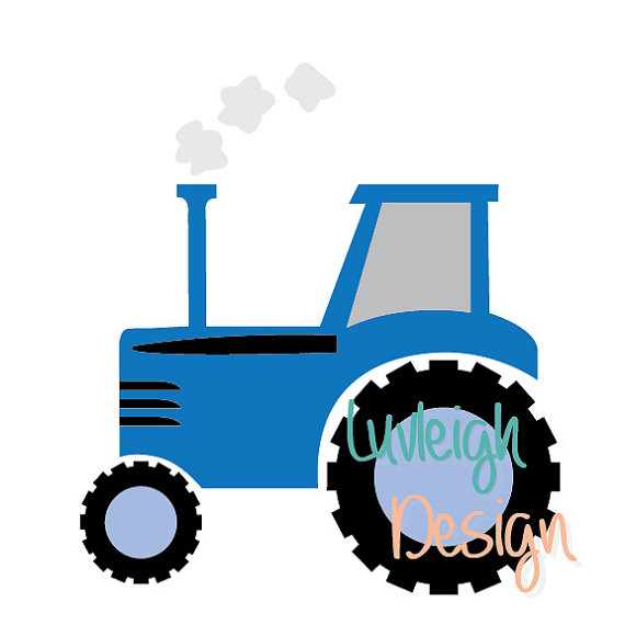 570x570 Blue Country Farm Barn Tractor Clipart Download Vector File