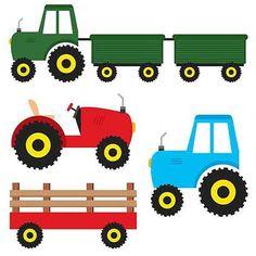 236x236 Clipart Of Farmall Tractor Cartoon. 375298 Royalty Free