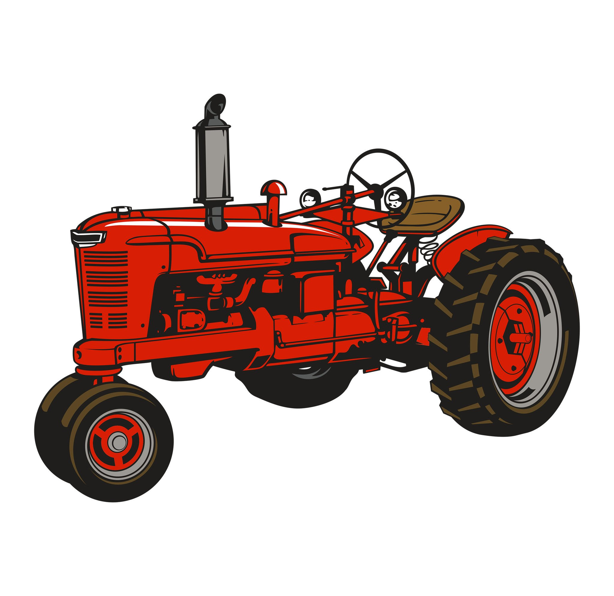 2048x1988 Old Farmall Tractor Decal M H Let's Print Big