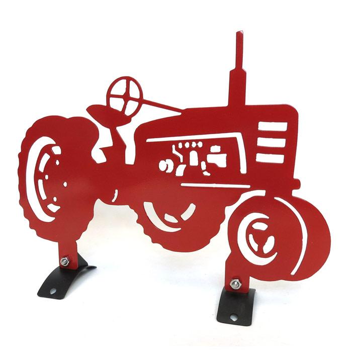 700x700 Red Farmall Tractor Mailbox Topper