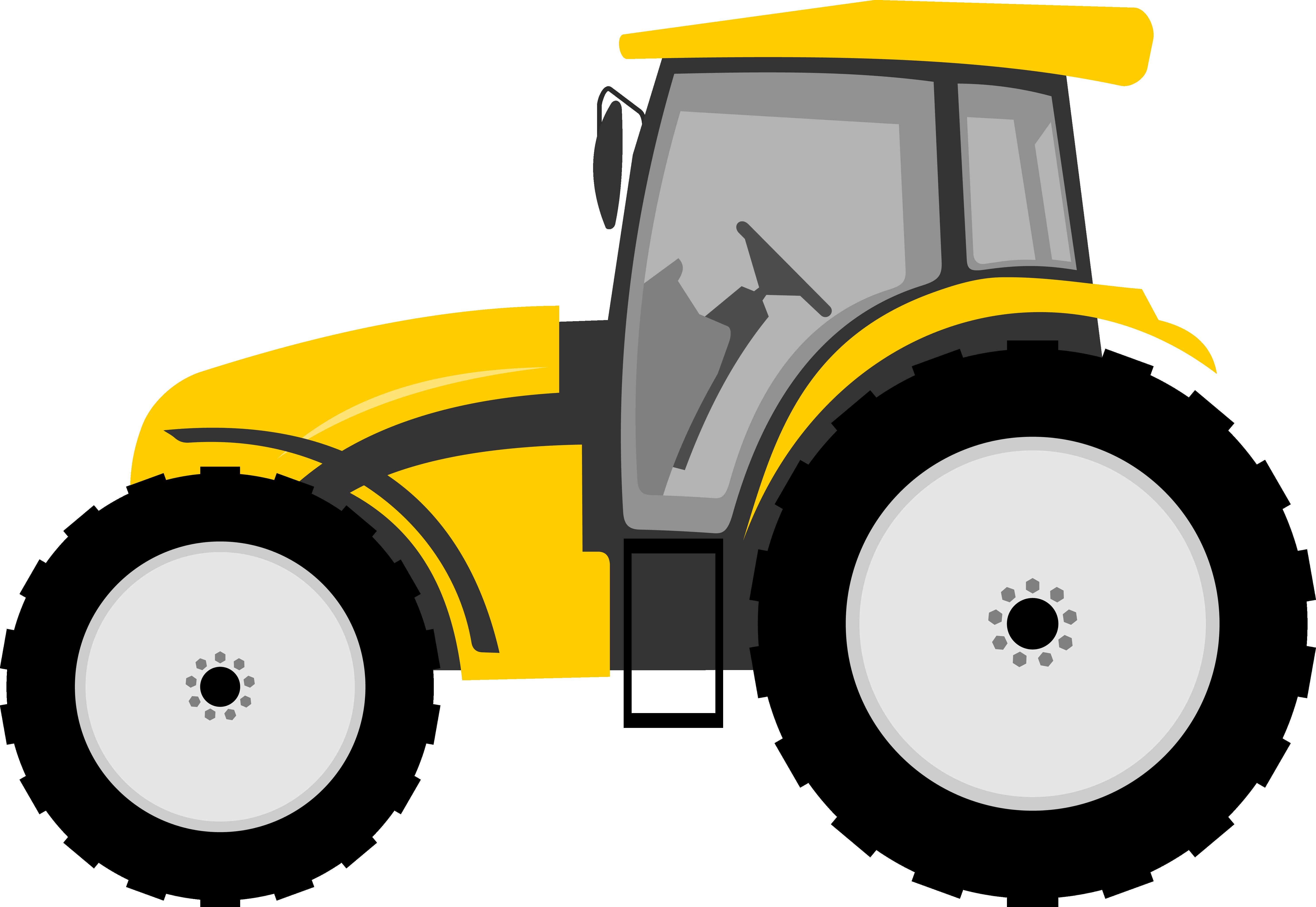 5940x4092 Tractor Farmall Cartoon Clip Art