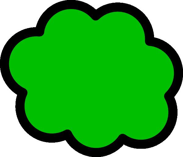 600x514 Green Fart Cloud Clip Art