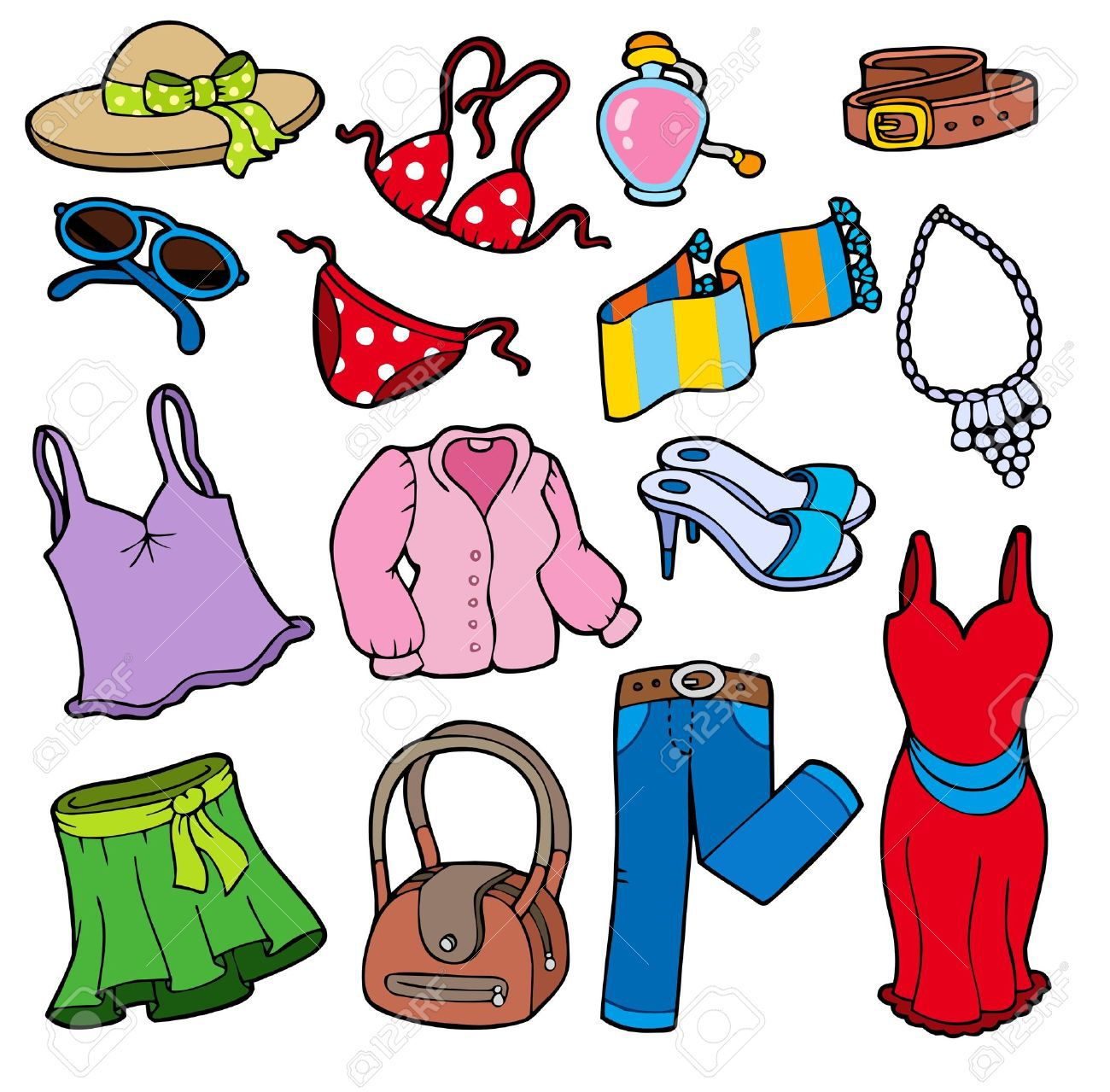 1300x1279 Summer Outfits Clipart