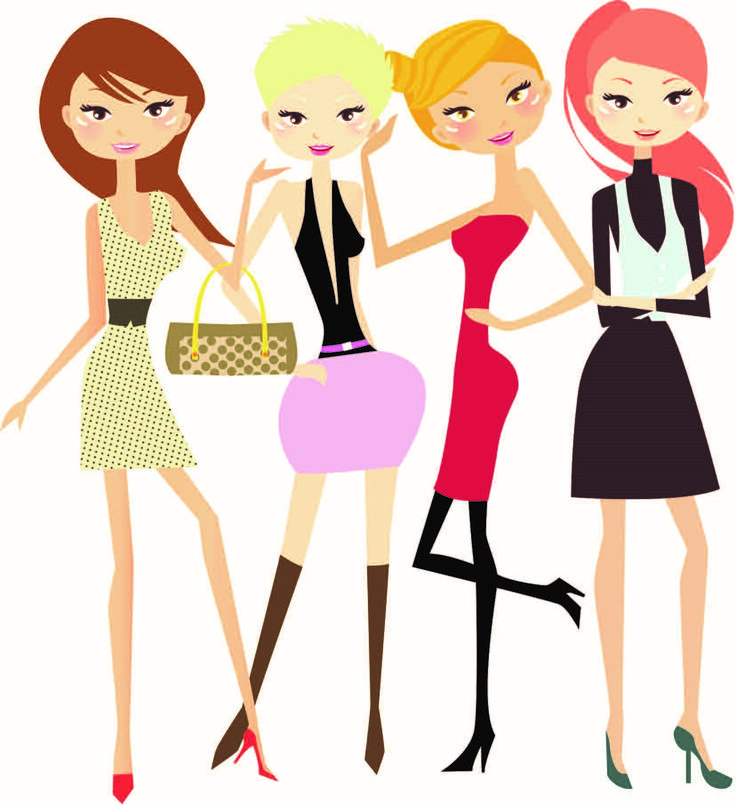 736x804 Girls Single Parent Clipart