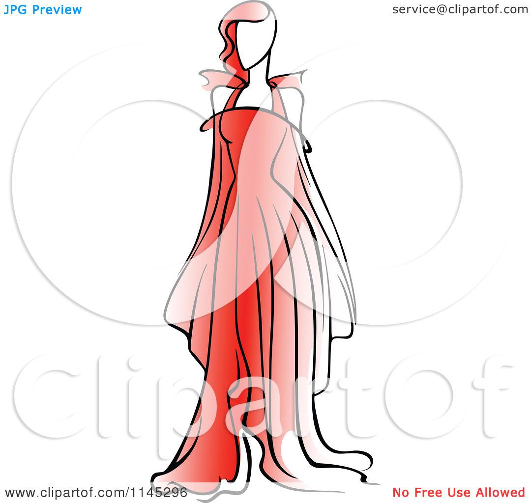 1080x1024 Red Dress Clipart Fashion Dress
