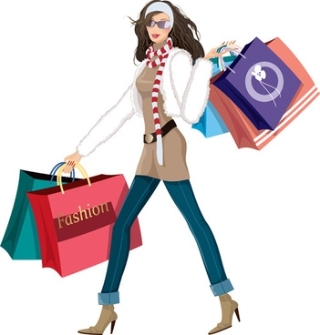 351x368 Fashion Girl Clipart