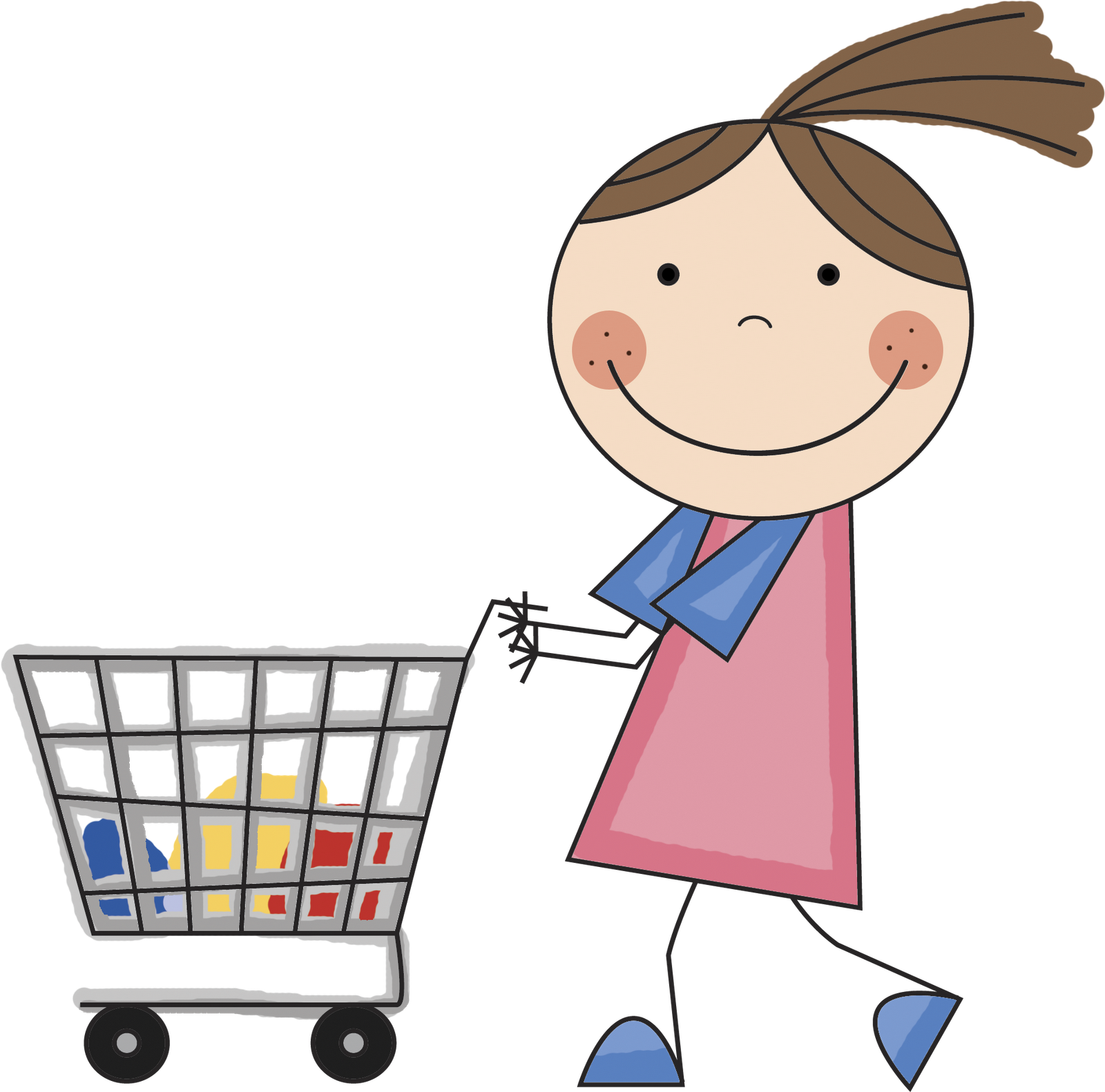 1600x1582 Fashion Shopping Girl Clipart Free