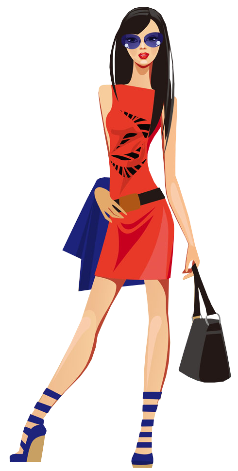 490x970 Fashion Girl Clipart Png
