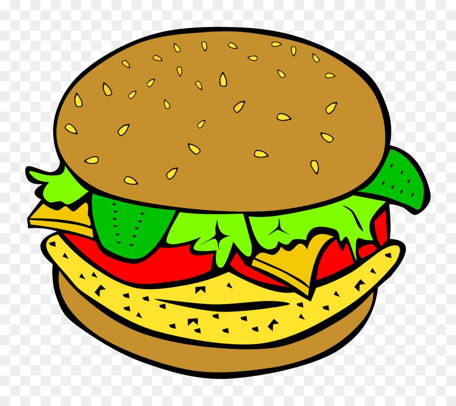 900x800 Junk Food Hamburger Fast Food Cheeseburger Clip Art