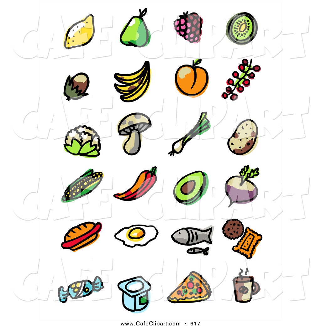 1024x1044 Vector Clip Art Of A Digital Set Of Fruit, Veggies, Fast Food