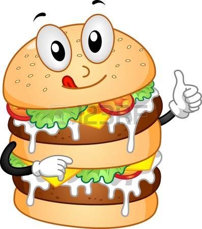 397x450 Cute Burger Clipart