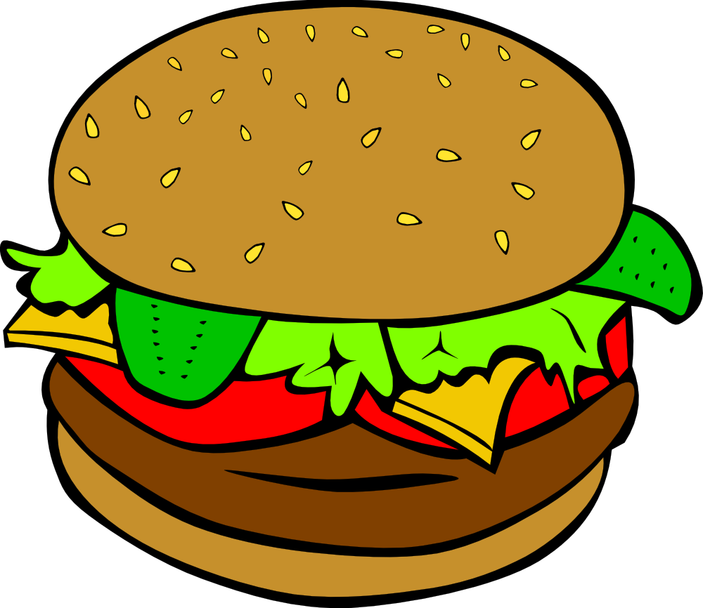 1000x866 Fast Food, Lunch Dinner, Hamburger. Tons Of Free Clip Art