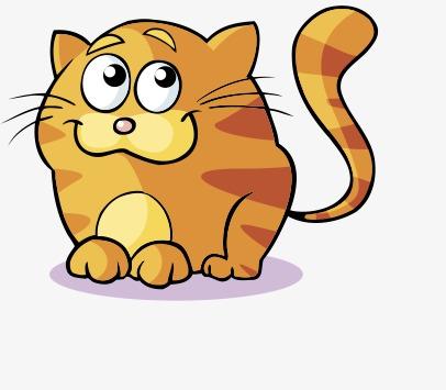 406x355 Cartoon Fat Cat, Cartoon, Big, Fat Cat Png And Psd File For Free