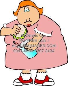 236x300 Clipart Illustration Fat Girl