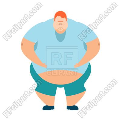 400x400 Fat Guy Royalty Free Vector Clip Art Image
