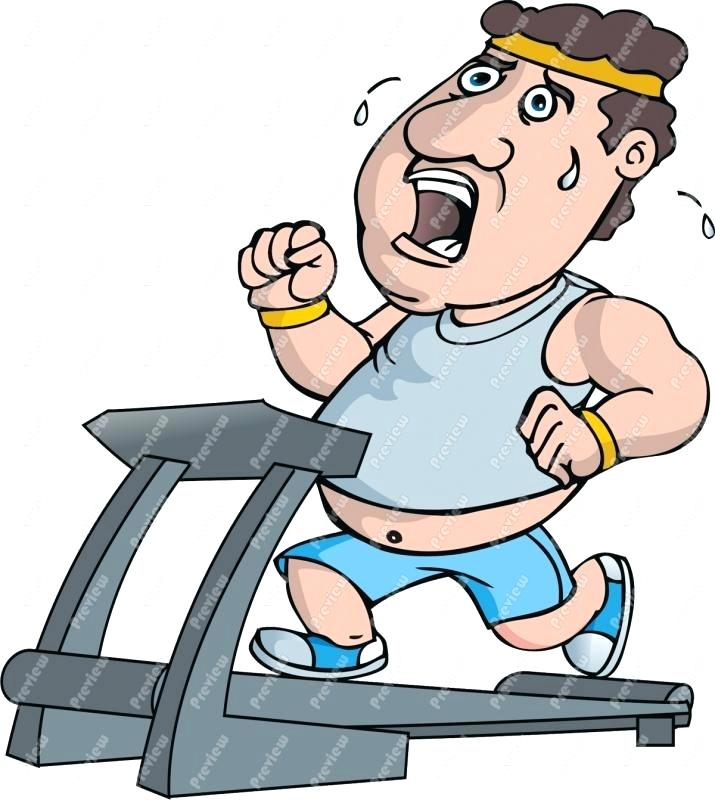 715x800 Person Running Clip Art Fat Guy On Treadmill Free Clipart Person