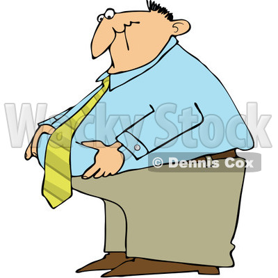 400x400 Royalty Free (Rf) Clipart Illustration Of A Fat Businessman
