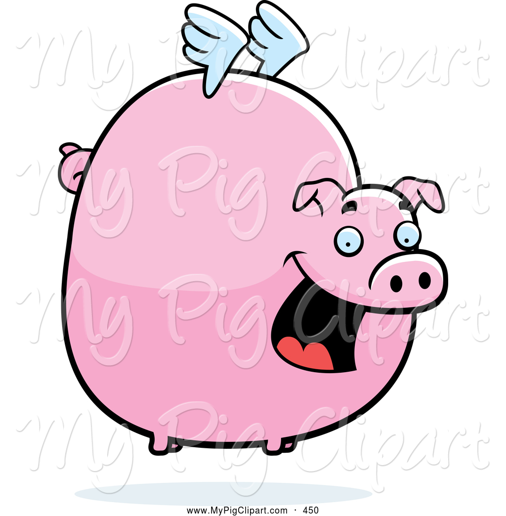 1024x1044 Fat Pig Clipart Swine Clipart Of A Happy Fat Flying Pig