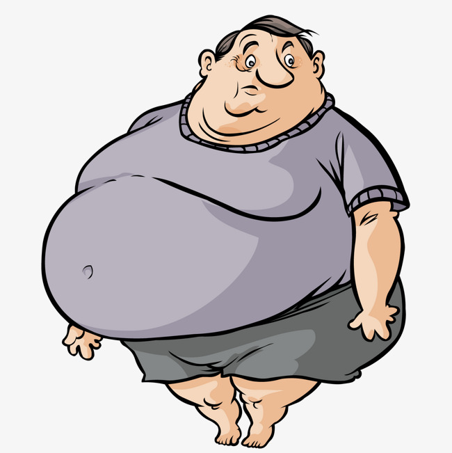 650x651 Cute Fat Man, Lovely, Fat Man, Cartoon Png And Vector For Free