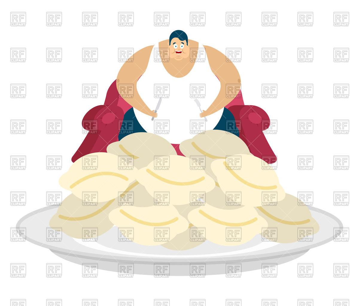 1200x1023 Fat Man Eat Meat Dumplings