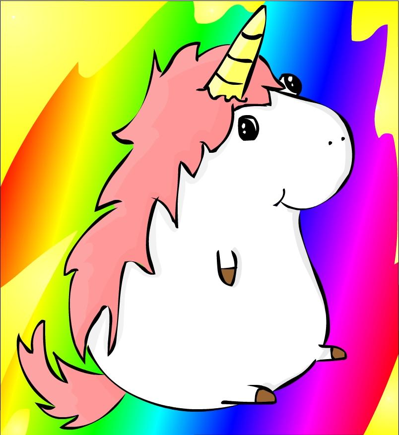 804x877 Fat Unicorn By Jeusava