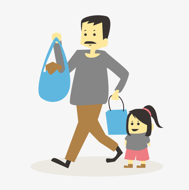 650x651 Father Daughter, Cartoon, Hand Painted, Daughter Png Image