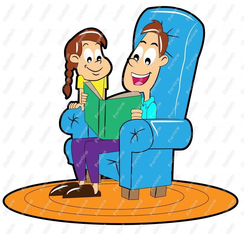 800x769 Father Reading Story To Daughter Clip Art