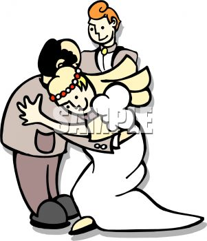 301x350 Royalty Free Clip Art Image Man With His Daughter And New Son