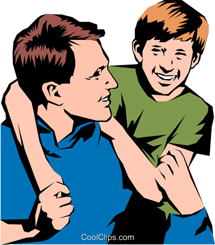 422x480 Father Amp Son Royalty Free Vector Clip Art Illustration Peop0836