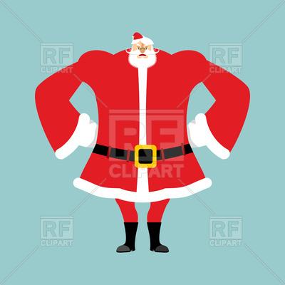 400x400 Angry Santa, Christmas Grandfather With Beard And Mustache Royalty