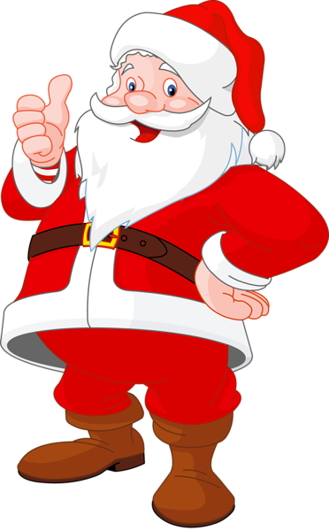 372x600 Christmas Santa Clip Art Clip Art