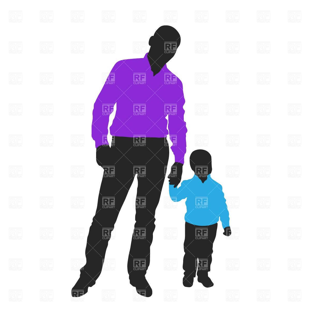 1200x1200 Father And Son Free Download Vector Clip Art Image