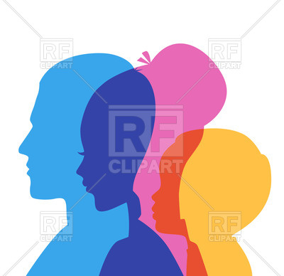 400x388 Silhouette Of Family (Father, Mother And Son) Royalty Free Vector