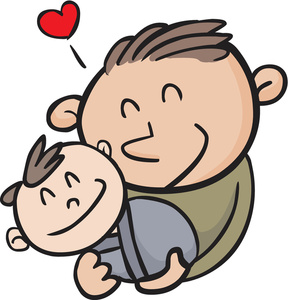 288x300 Father And Baby Clipart Father Clip Art Images 91cupw Clipart