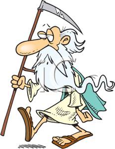 232x300 Clip Art Image Father Time Holding A Scythe