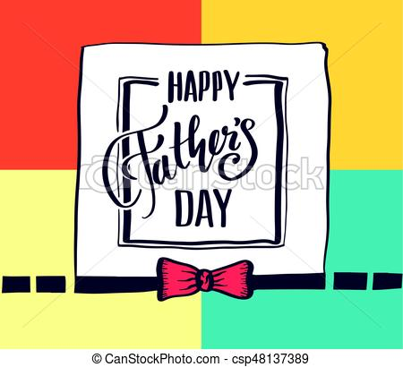450x410 Father's Day Card. Vector Illustration Vector