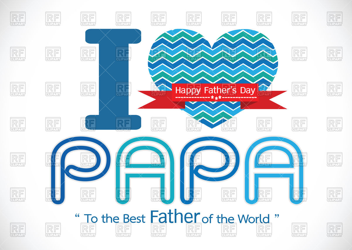 1200x853 Happy Father's Day Card Royalty Free Vector Clip Art Image