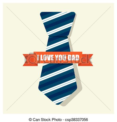 450x470 Happy Fathers Day Card Design With Big Tie Clipart Vector
