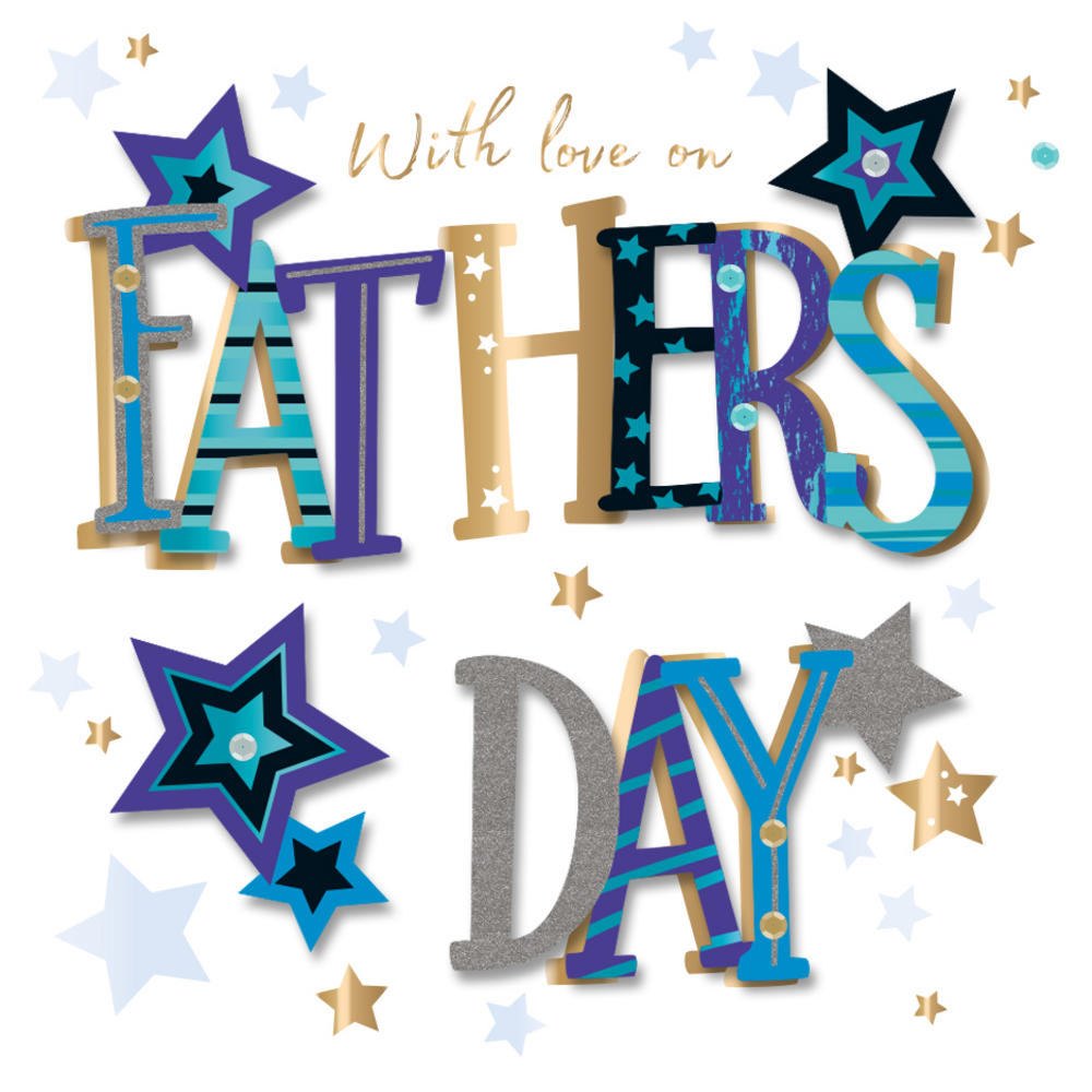 1000x1000 On Father's Day With Love Greeting Card Cards Love Kates