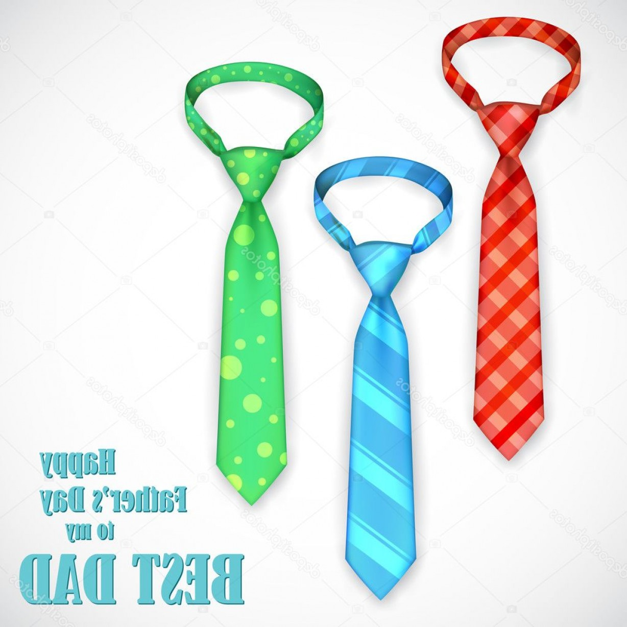 1228x1228 Stock Illustration Tie In Fathers Day Card Shopatcloth