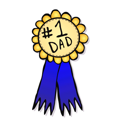 390x397 Attention Lazy Children Printable Father's Day Cards