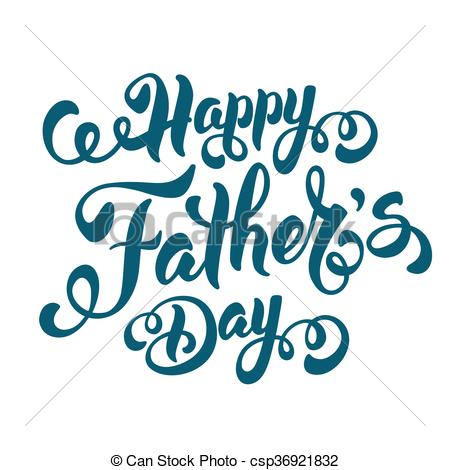 450x470 Fathers Day Lettering Calligraphic Design Isolated On White