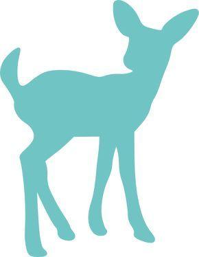 290x374 Deer Clip Art Printable Teal Fawn Deer Clip Art
