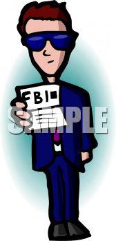 168x350 Fbi Agent Showing His Identification