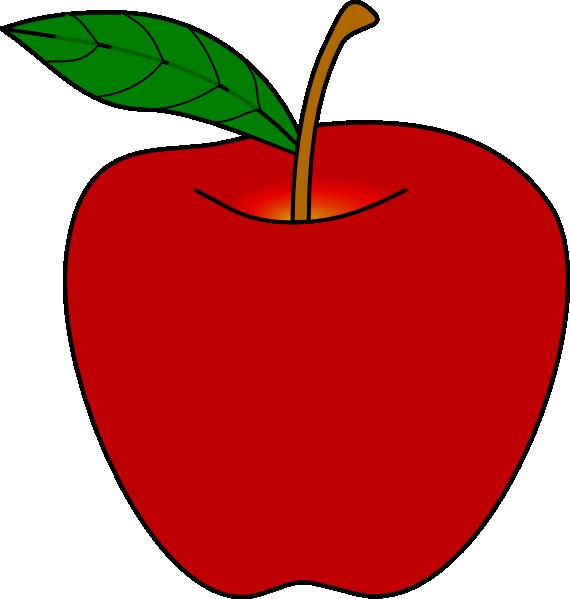 570x599 Red Apple Clip Art