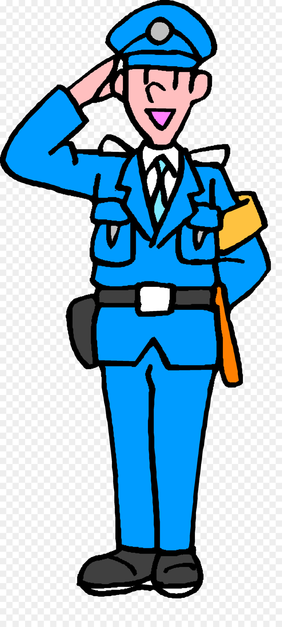 900x2000 Security Guard Police Officer Crossing Guard Clip Art