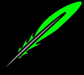 298x264 Green Feather Clip Art