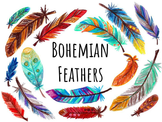 570x428 Hand Drawn Feather Clip Art Feather Clipart With Color