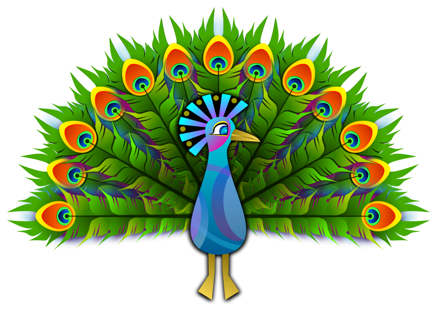 900x647 Peacock Feather Clipart, Vector Clip Art Online, Royalty Free