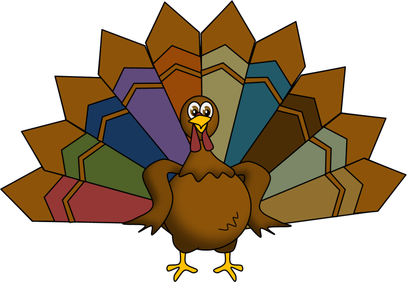 830x575 Turkey Feather Clip Art